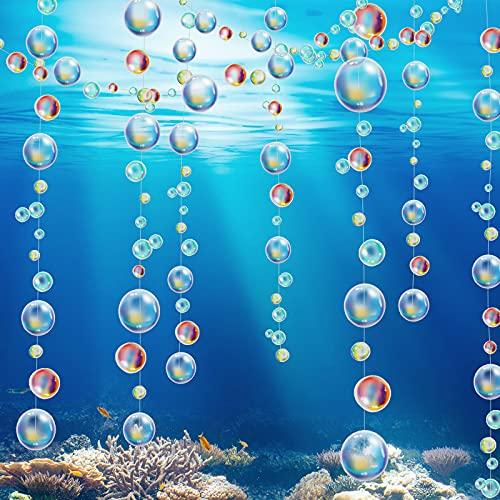 8 Guirnaldas de Burbujas Transparentes Decoración de Fiesta de Sirena Pancarta de...