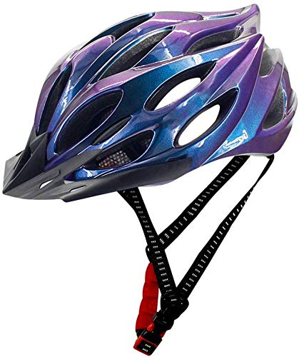 T.Y.G.F Casco de Bicicleta Ligero, Casco de Bicicleta de montaña Ajustable con luz integrada, Certificado CE, Casco de Bicicleta de Carretera para Hombres y Mujeres