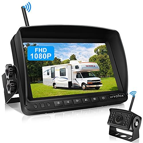 URVOLAX Rückfahrkamera Kabellos,7 inch Monitor und Parkkamera IP69K...