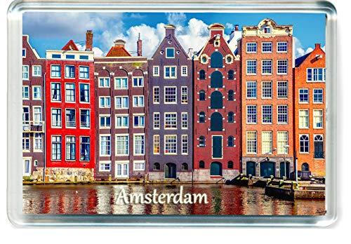 J006 Amsterdam Jumbo Imán para Nevera Netherlands Travel Fridge Magnet