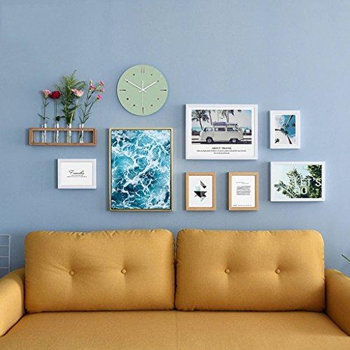 Collage de cadre photo 7 cadre combinaison créative décoration murale salon photo mur d'horloges murales (Couleur : A)