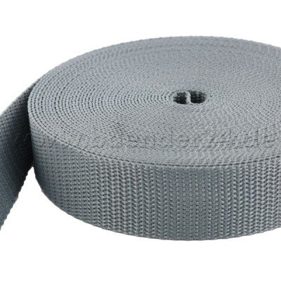 10m PP Gurtband - 30mm breit - 1,4mm stark - grau (UV)