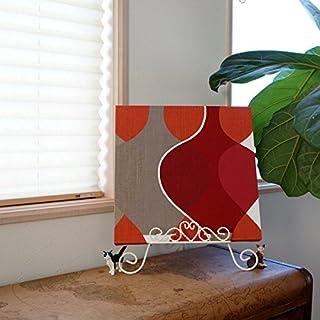 ファブリックパネル ボラスコットン/boras cotton MALAGA(マラガ)/RED 300×300mm