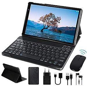 Tablet 10 Pulgadas FACETEL Q3 Android 9.0 4GB de RAM y 64 GB de ROM,5MP 8MP Cámara Tablet PC Batería de 8000mAh,Certificación Google gsm | WiFi | GPS | OTG | FM | Bluetooth-Gris
