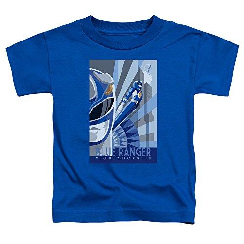 Power Rangers - - Los niños pequeños Ranger Azul de Deco de la camiseta