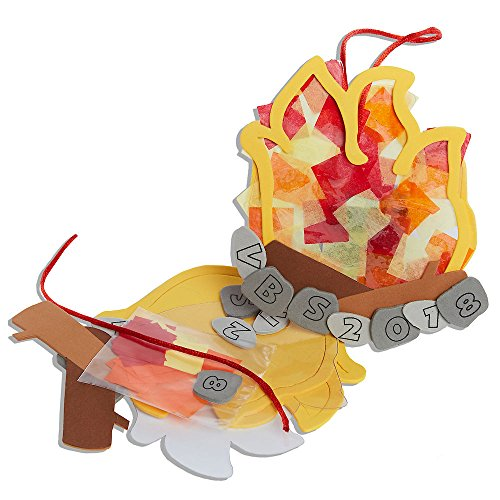 Vacation Bible School Vbs 2018 Rolling River Rampage Campfire Suncatcher Craft Kit: Experience the Ride of a Lifetime With God! - Package of 12