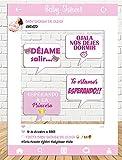 Photocall de Baby Shower Niña 80x110cm  Divertido y económico Detalle de Baby Shower  Hazte Unas Fotos Divertidas en el Baby Shower de tu Hija  Personalizable