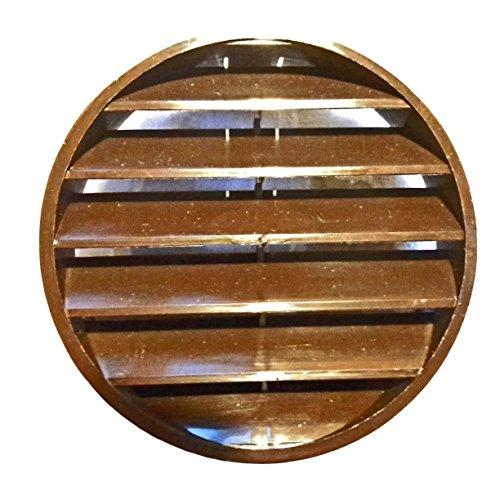 Verschlussgitter aus Kunststoff Ø 100 mm mit Lamellen in Braun für Rohre 10 cm Zeitungsrollen (Braun)