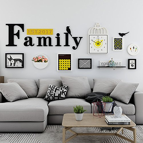 ZGP Home@Wall photo frame Nordic Watch Photo Wall Decoration Creative Portfolio Photo Wall Living Room Sofa Background Wall Photo Frame Wall (Color : C)