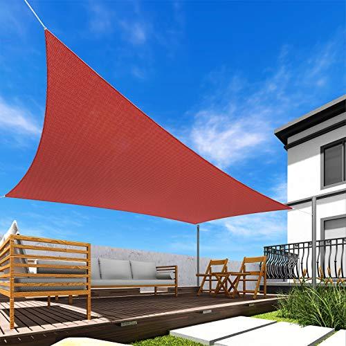 Windscreen4less Toldo rectangular de 12 pies x 16 pies, color rojo sólido, resistente a los rayos UV, para patio al aire libre, patio trasero