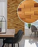 wodewa Paneles de Madera para Pared Iroko I 1m² Revestimiento de Paredes 3D Panel Decorativo Madera Interior Sala de Estar Cocina Dormitorio Mural Panel Madera