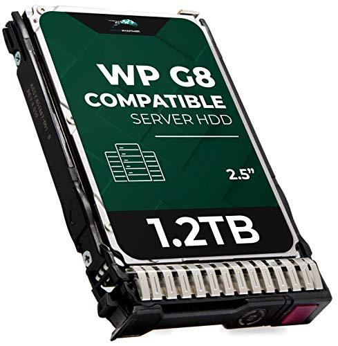 1.2TB 10K RPM SAS 12Gb/s 2.5-Inch HDD for HP ProLiant Servers | Enterprise Hard Drive in G8 G9 Tray Compatible with 872479-B21 781518-B21 872737-001