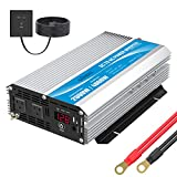 GIANDEL 2000W Power Inverter Modified Sine Wave 12 Volt DC to 110V 120V AC with Remote Control and LED Display Dual AC Outlets & USB Port for RV Truck Boat