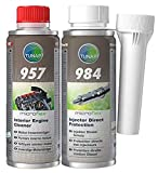 Kit Tunap per motori Diesel (fino a EURO6) Tunap 984 per la protezione diretta e la lubrificazione degli iniettori del gasolio Tunap 957 per la pulizia dell'impianto di lubrificazione prima del cambio dell'olio Qualità garantita TUNAP: leggi la descr...