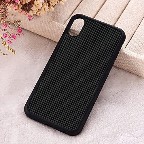 KESHOUJI para iPhone 5 5S SE Fundas para teléfono para iPhone 6 6S 7 8 Plus X XS MAX XR 11 12 Mini Pro Silicona Negro Gris Impresión de Fibra de Carbono, para iPhone XR