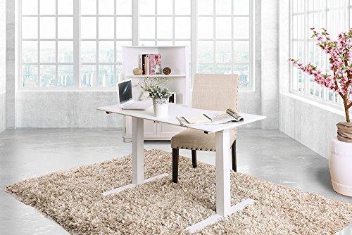 Kilkee White Metal Adjustable Height Desk by Furniture of America