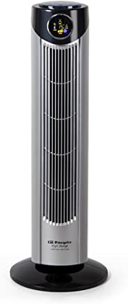 Orbegozo TWM 1010 Ventilador de torre, 45 W, Gris y negro