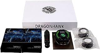 Dragonhawk Tattoo Machine Kit Pen Rotary Tattoo Machine Needles Airfoil Power Supply for Tattoo Artists