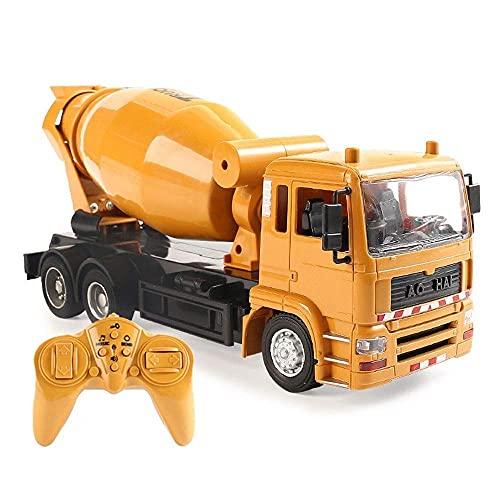 Decoración del hogar Camión mezclador de control remoto Camión de ingeniería 2.4G...