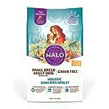 Halo Grain Free Natural Dry Dog Food, Small Breed Game Bird Medley, 10-Pound Bag