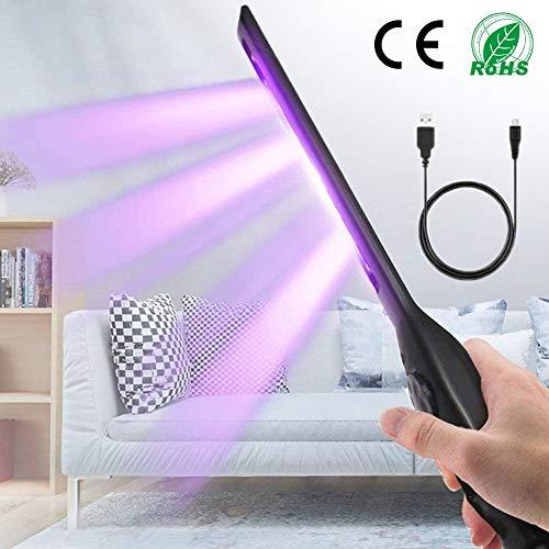 HIMACar Handheld Lampada Germicida UV,Purificatore d'Aria USB con Disinfezione Tubo Quarzo Ozono Portatile Disinfettante per Auto Frigorifero Domestico Toilette Area Pet