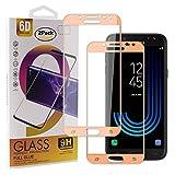 Guran [2 Paquete Protector de Pantalla para Samsung Galaxy J5 2017 J530 Smartphone Cobertura Completa Protección 9H Dureza Alta Definicion Vidrio Templado Película - Oro Rosa