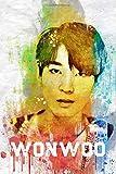 Wonwoo: Seventeen Member Color Splatter Art 100 Page 6 x 9' Blank Lined Notebook Kpop Carat Merch Journal Book