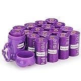 Pet Love, 240 Sacchetti Resistenti, ecologici e biodegradabili per Gli Escrementi dei Cani. Profumati alla Lavanda, con Tecnologia EPI. Distributore Incluso (15 Sacchetti a Rullo, 16 rulli)