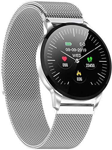 Smart Watch Mujeres Correr Pulsómetro Bluetooth Podómetro Touch Inteligente Deporte Smartwatch para Mujeres Hombres C