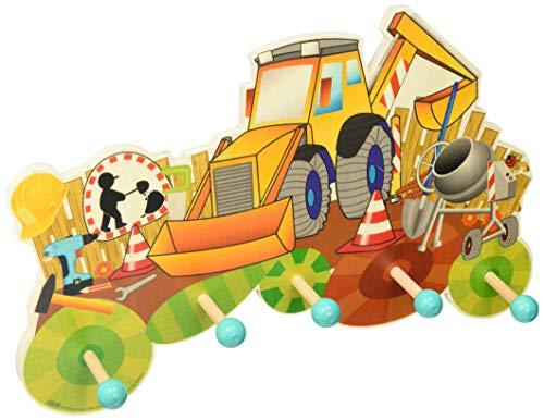 Hess Holzspielzeug 30301 - Perchero de Madera, de Obra en Serie, con 5 Ganchos, para niños, Hecho a Mano, como Punto de atracción en Cada habitación Infantil y Pasillo