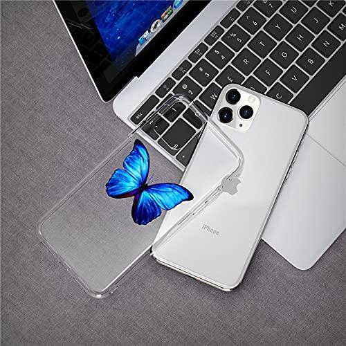 LIUYAWEI Linda Funda Transparente para teléfono con Mariposa para iPhone 11 Pro MAX X XR XS 6 6s 7 8 Plus Carcasa Trasera de Silicona TPU Suave de Dibujos Animados, T2, para iPhone 6 Plus