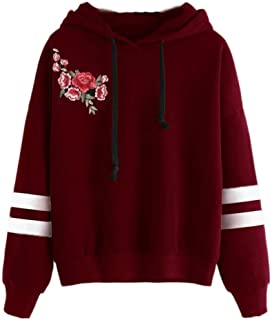 81fd6ceae8 Tonsee® Femmes de Long Hoodie Sweatshirt Pull Pullover Tops Blouse à Manches
