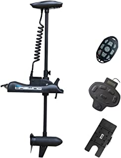 """Black Haswing 12V 55LBS 54""""Shaft Bow Mount Electric Trolling Motor Portable,Variable Speed,with Foot Control/Quick Release..."""