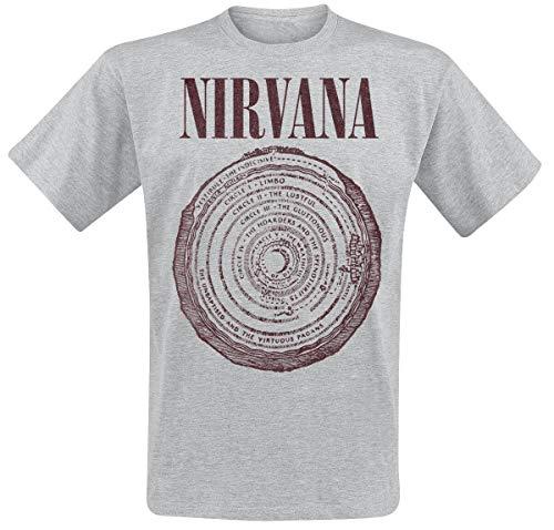 Nirvana Vestibule Circle Männer T-Shirt grau meliert S 90% Baumwolle, 10% Polyester Band-Merch, Bands