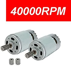 2 Pcs 550 40000RPM Electric Motor High Speed RS550 12V Motor Gearbox Accessories for Power Wheels Children Ride On Car Replacement Parts