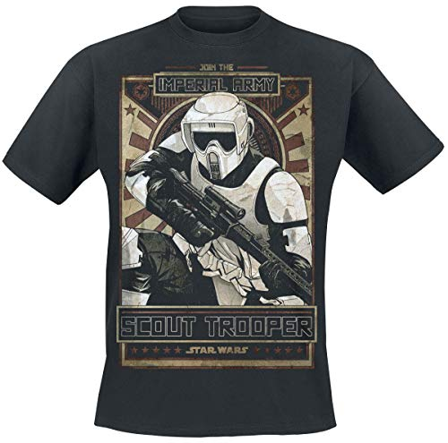 Star Wars Episode 6 - The Return of The Jedi - Imperial Army Hombre Camiseta Negro L