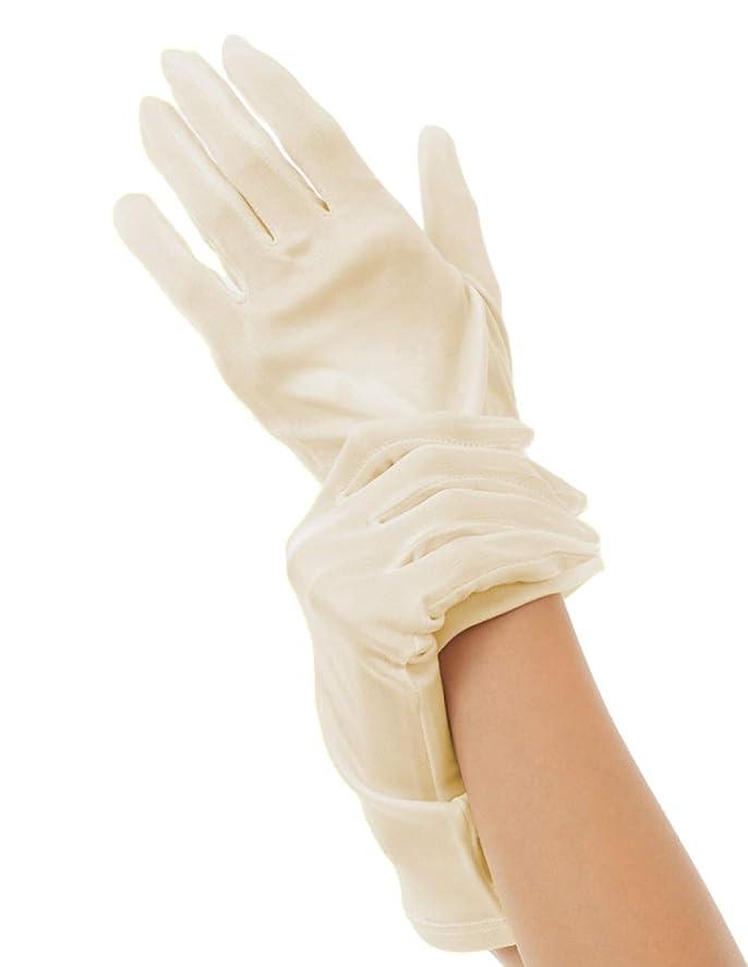 差別的登山家絶壁ハンドケア シルク 手袋 Silk 100% おやすみ スキンケア グローブ うるおい 保湿 ひび あかぎれ 保護 上質な天然素材 (M, ライトベージュ)