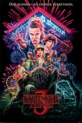 Stranger Things Season 3 Poster 24x36 inches One Summer Can Change Everything Certified Print w/Sticker