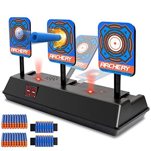 KKONES Electric Scoring Auto Reset Shooting Digital Target for Nerf Guns Shooting Target