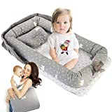 Baby Lounger, GORSETLE Portable Co-Sleeping Baby Nest Cotton Breathable Baby Lounger for Cuddling, Lounging, Napping and Travel Baby Shower and New Year Gift