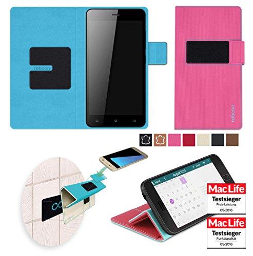 reboon Hülle für Gionee Pioneer P5W Tasche Cover Case Bumper   Pink   Testsieger