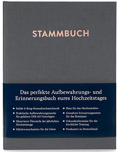 Modernes Stammbuch der Familie A5, Familienstammbuch Paul (Quarzgrau)
