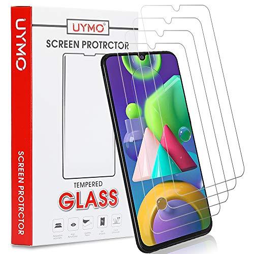 UYMO [4 Stück Samsung Galaxy M31/M21 Panzerglas, Hartglas Schutzfolie [9H Härte] [Anti-Öl] [Anti-Kratzen] Tempered Glas Displayschutzfolie für Samsung Galaxy M21/M31