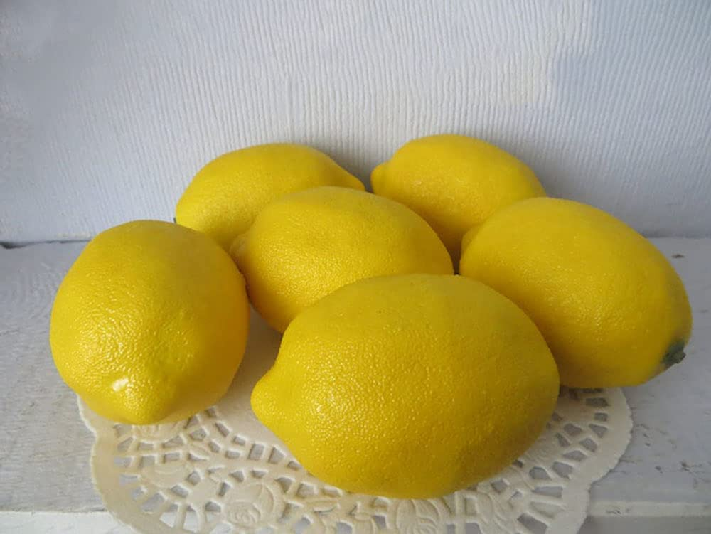 Artificial Lemons Max 55% OFF 6 Lg. Yellow Fruit Excellence Faux Kitchen Fake Decor