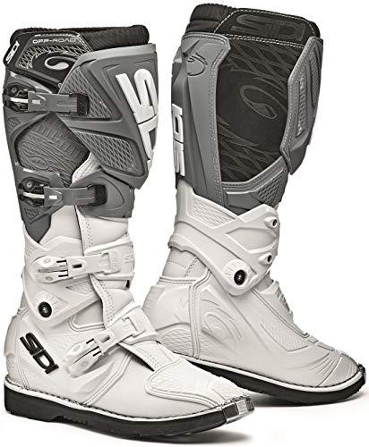 Sidi Women's X-3 TA Lei MX Boots (White/Grey, 8/40)