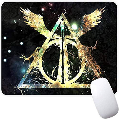 Mouse Pad,Golden Triangle Wings Pattern Seamless Waterproof Gaming Anime Gift Mouse Pad Desk Accessories Non-Slip Rubber Mousepad for Laptop and Computer