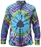 Little Kathmandu - Camisa de estilo hippie, algodón, teñida, estilo casual