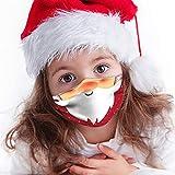 PPangUDing Weihnachten Mundschutz Kinder Mundschutz Waschbar Wiederverwendbar Atmungsaktive Staubdicht Bandana Halstuch Multifunktionstuch Schlauchtuch für Jungen und Mädchen