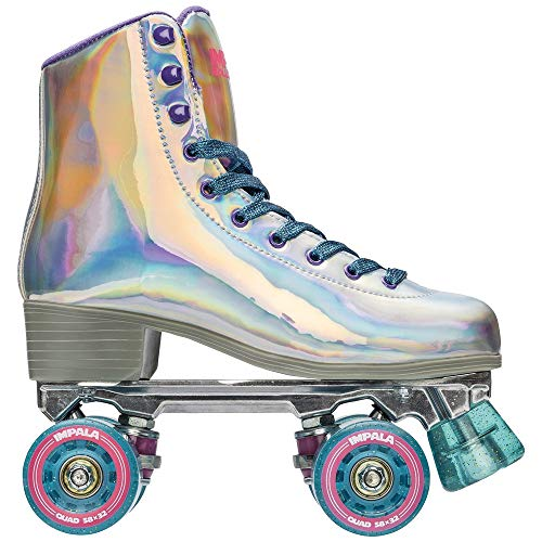 Impala Rollerskates Girl's Impala Quad Skate (Big Kid/Adult) Holographic 7 (US Men's 5, Women's 7)