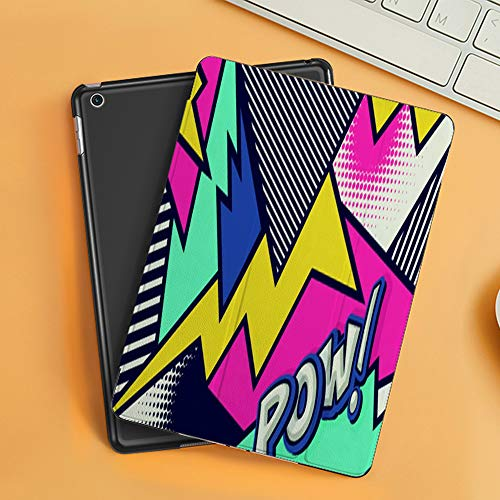 Case for iPad Air 10.2(2019/2018),Mick Pow Pop Art Funny Speech,Cover with Auto Sleep Wake Feature, Slim Lightweight Stand Protective Case